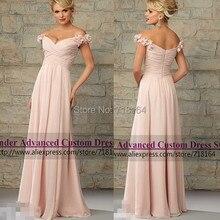Latest design chiffon long coral colored bridesmaid dresses vestido de festa longo formal dress to party