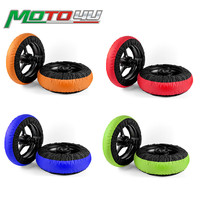 4 Colors Tire Warmer Motorcycle Race Tyre Warmer wheel Set 120/200 120/190 Front and Rear Motorbike Racing parts