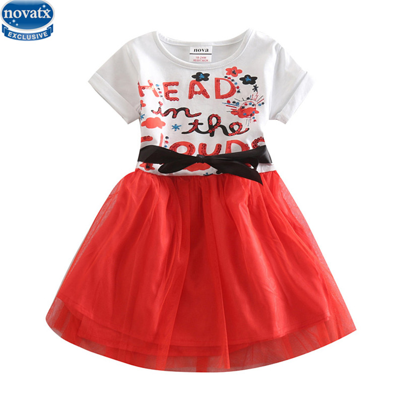 summer short sleeve girls dress with letters and floral tutu baby girl dress nova kids party dress new design children clothes girls dress baby dress girls flowers tutu kids dress for girls summer floral knee length dress for girls clothes 2016 c532q125