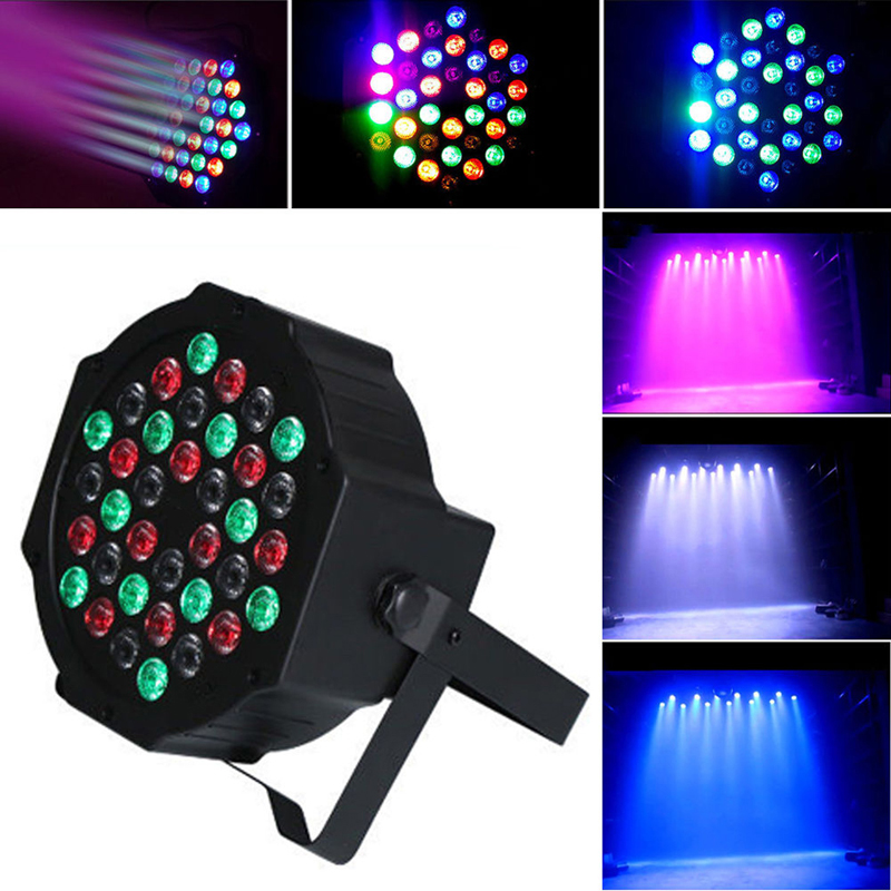36 RGB LED Stage Light Par DMX-512 Lighting Laser Projector Party Club Disco DJ 8pcs lot 24x18w led par light rgb par64 dmx par stage lighting