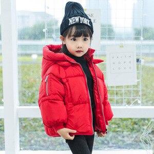 Image 5 - 2 6Yrs子供のカジュアルアウターコート女の子コールド冬暖かいフード付きコート子供綿が詰め服子供たちジャケット
