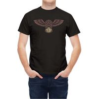 T Shirt Tattoo Wise Bird Owl Clock Summer Short Sleeves Cotton T Shirt Fashion Cotton Loose