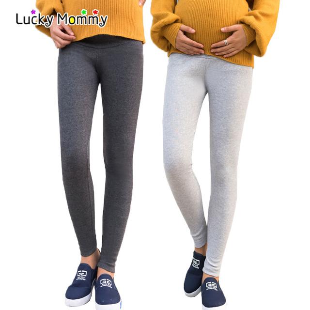 Produtos Abdominal para As Mulheres Grávidas maternidade Leggings Feminino Cintura Alta Roupa de Maternidade Barriga Calças de Cuidados para As Mulheres
