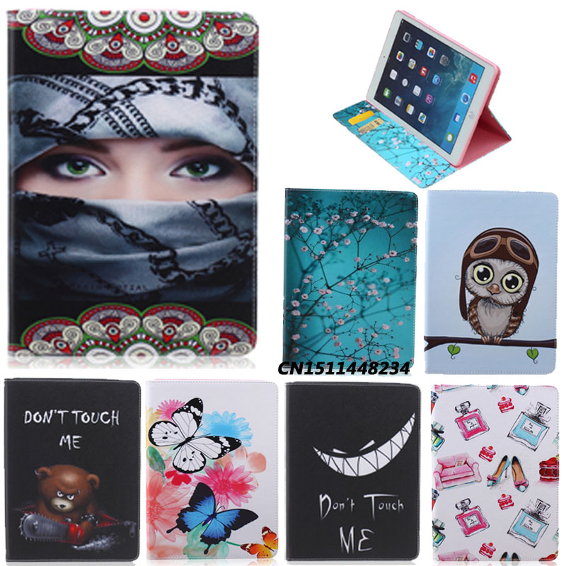 New Fashion Painting Designer Case For Apple Ipad air ipad 5 Luxury Smart Cover Leather Flip Stand Case for ipad air1+film+pen g cover hi quality fashion flip open pu leather stand case w pocket for ipad air ipad 5 black