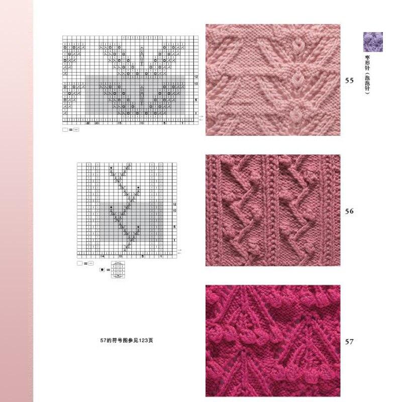 Tejer patrones Libro 2 aguja símbolo 125 y tejer patrones 125 punto ...