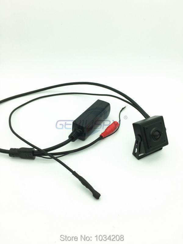 720P Hd otwór zawleczki Mini kamera POE IP z mikrofonem 3.7mm otwór zawleczki obiektyw H.264 Onvif P2P pilot za pośrednictwem internetu i telefonu komórkowego