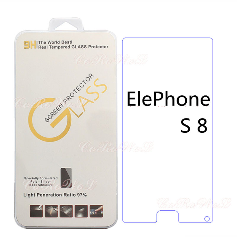For Elephone S8 Screen Protector For Elephone S8 Phone Case Tempered Glass 9H 2.5D Explosion Proof Film Protector Mobile Phone