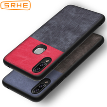 SRHE For Lenovo S5 Pro Case Cover PU Leather and Denim Soft Silicone Back S5Pro 6.2 inch