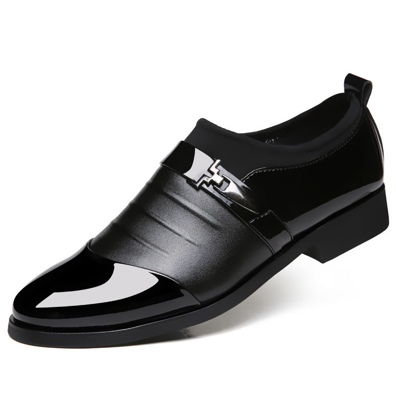 New Men's Dress Leather Shoes Fashion Height Increasing ...