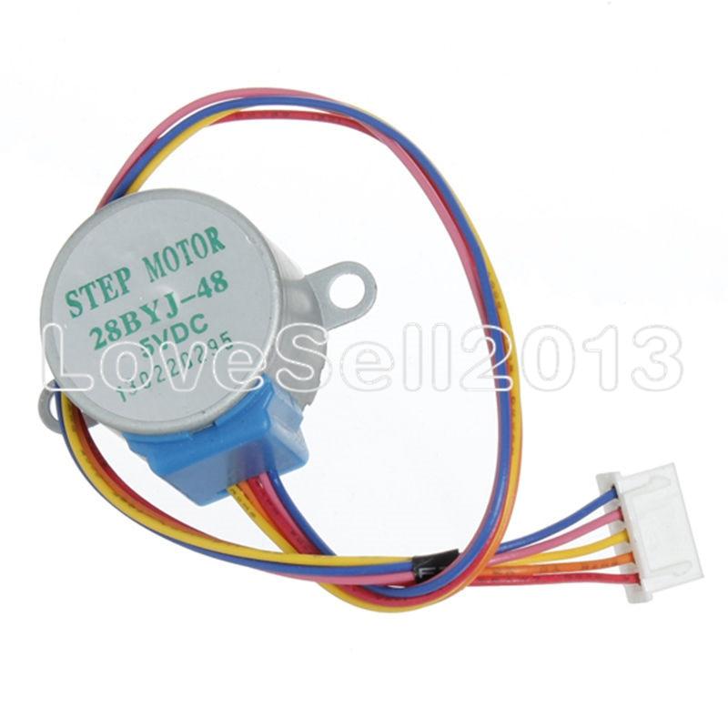 ULN2003 5V 4-phase 5-wire Stepper Motor Gear Motor 28BYJ-48-5V,Micro Mini Electric Step Motor For PIC 51 AVR