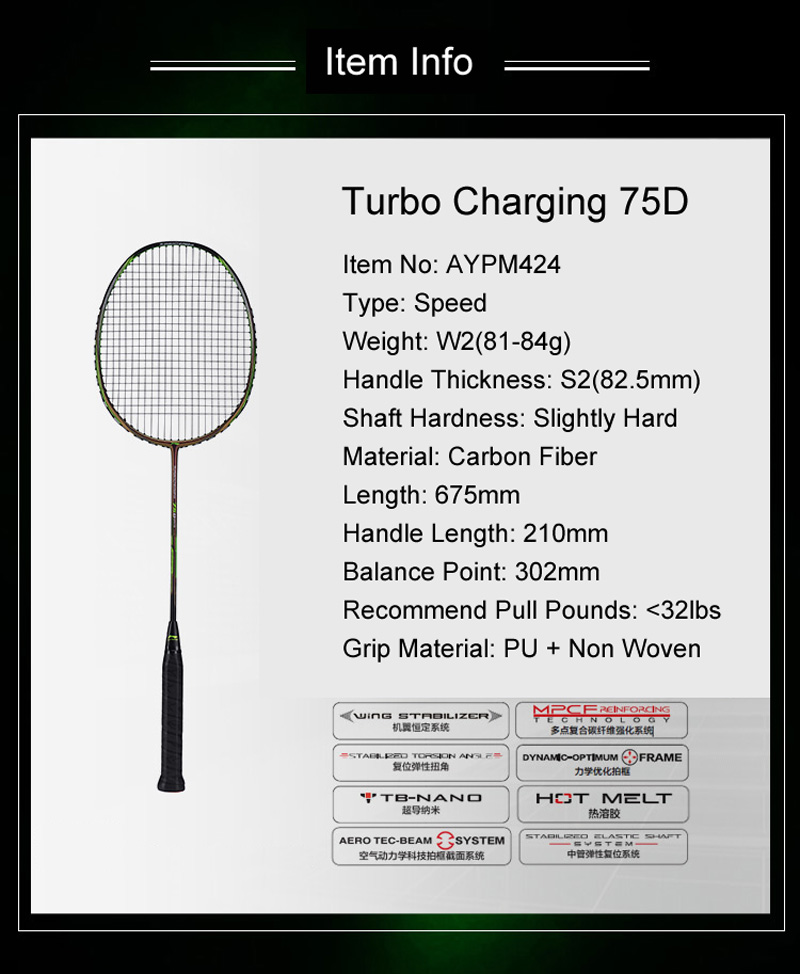 Li-Ning Turbo Charging 75D