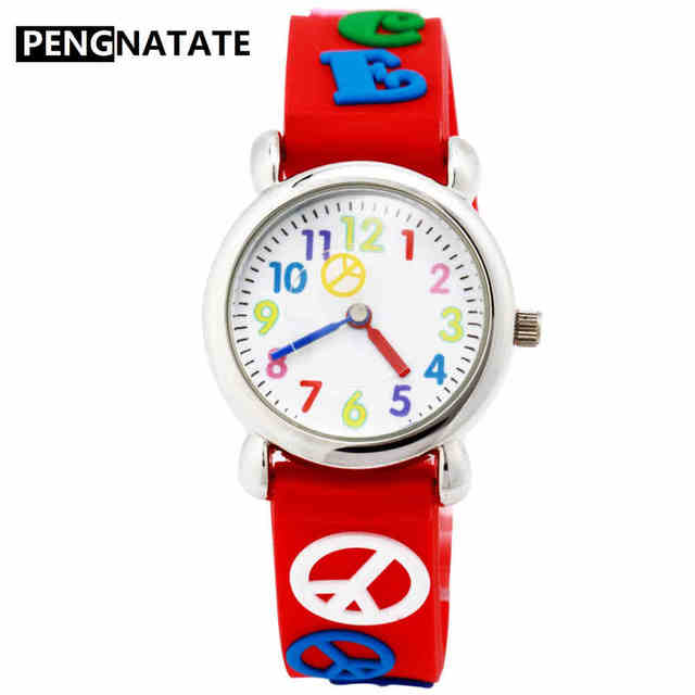 cartoon kids children boys item space students fashion wristwatch silicone bracelet pengnatate watch watches strap rocket