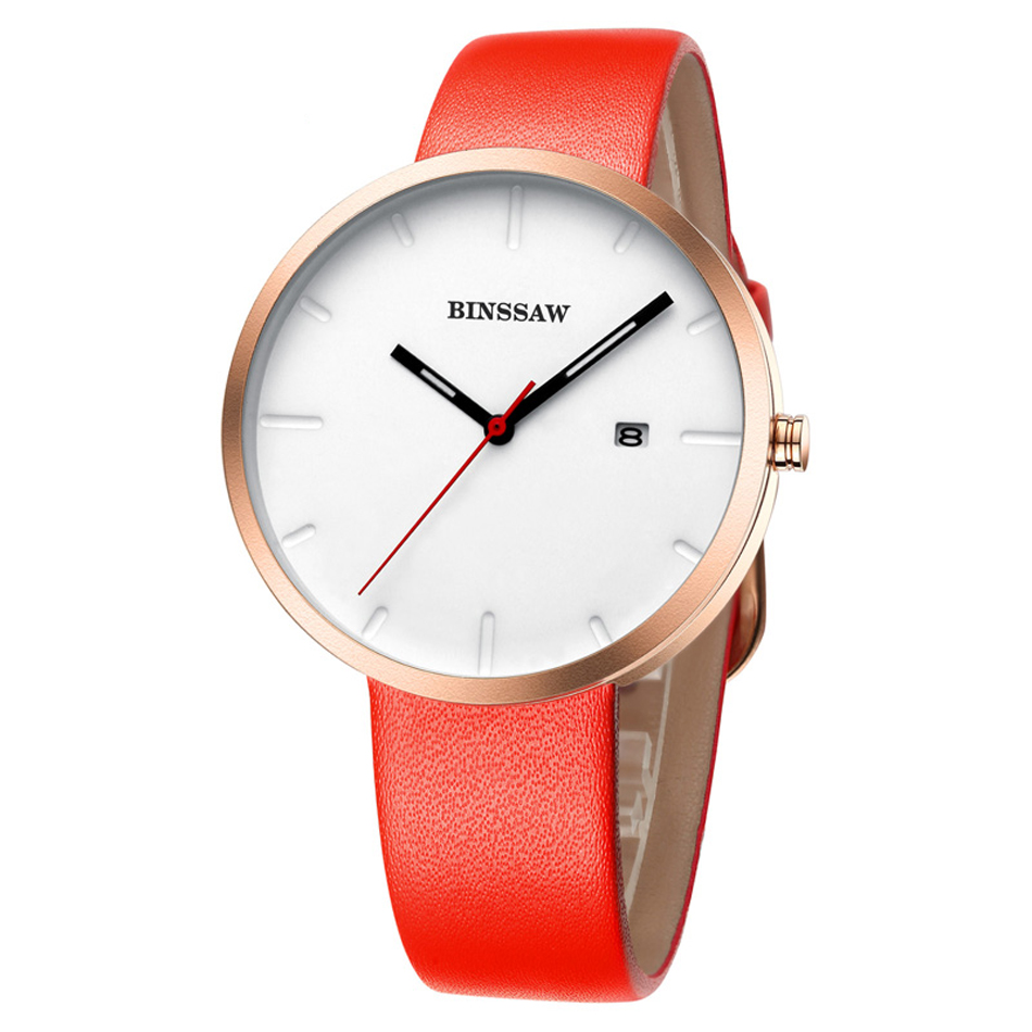 BINSSAW 11 11 Luxury brand Ladies Fashion Quartz Watch Women Leather Casual Dress Women s Watch