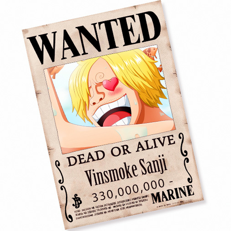 One Piece Wanted Posters Wallpaper Freewallanime