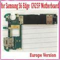 Europa versión para samsung galaxy s6 edge g925f motherboard, 32 gb abierto original para samsung s6 g925f placa base, envío libre