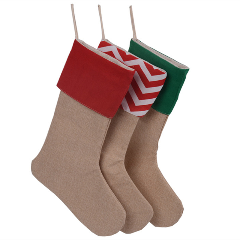 Drawings Of Christmas Stockings.Us 32 75 45 Off Christmas Stockings 30 45cm Christmas Gift Bag 12pcs Dozen Stocking Draw String Bag Tree Decoration Socks Canvas Santa Stocking In