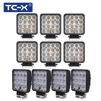 10 PCS Wholesale 12V 24V 48W LED Work Lights Square Offroad LED Extra Light Portable Flood