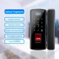 Eseye Biometric Smart Glass Door Lock Fingerprint Door Lock Digital Lock Electronic Lock Remote Control Safety For Office