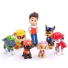 12 pieces / set of paw patrol rescue dog figure doll set toy PVC sliding model p