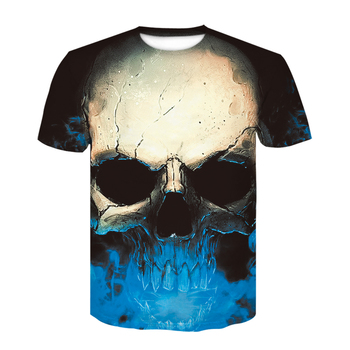 Devin Du 2019 brand new skull 3D printed T-shirt tops round neck fashion short-sleeved t-shirts for men and women