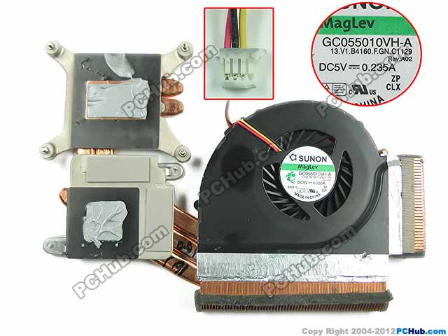 Free Shipping For SUNON GC055010VH-A, 13.V1.B4160.F.GN.C1129 DC 5V 0.235A 3-wire 3-pin Heatsink Fan free shipping for sunon kde0505phb2 dc 5v 1 9w 2 wire 3 pin 50x50x15mm server square fan