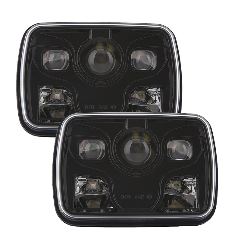 TNOOG 5x7Inch square LED Head Lamps for Jeep Cherokee 6x7 Truck Headlights with Hi/Lo beam front Lighting replacement
