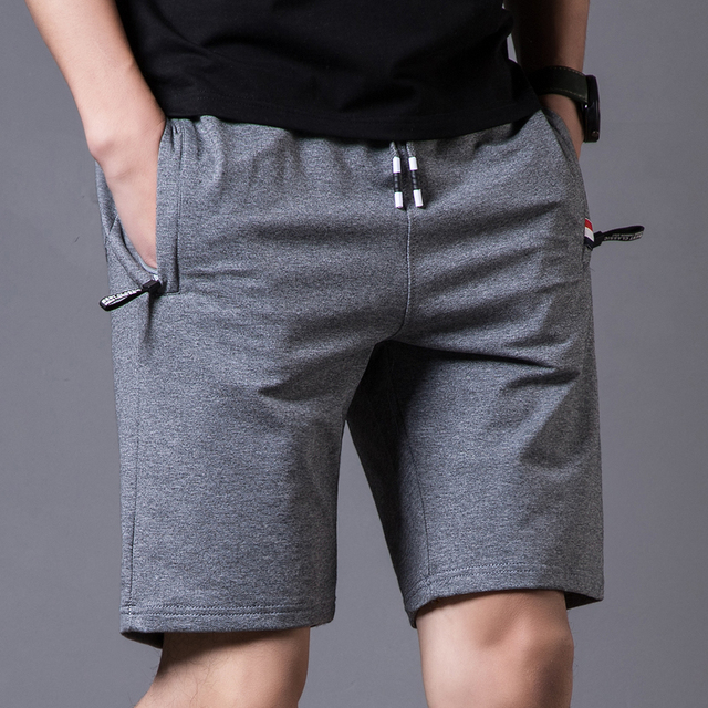 2019 Men Shorts Summer Solid Mens Casual Shorts Beach Boardshorts Slim Cotton Male Homme Short Trousers Brand Bermuda Masculina