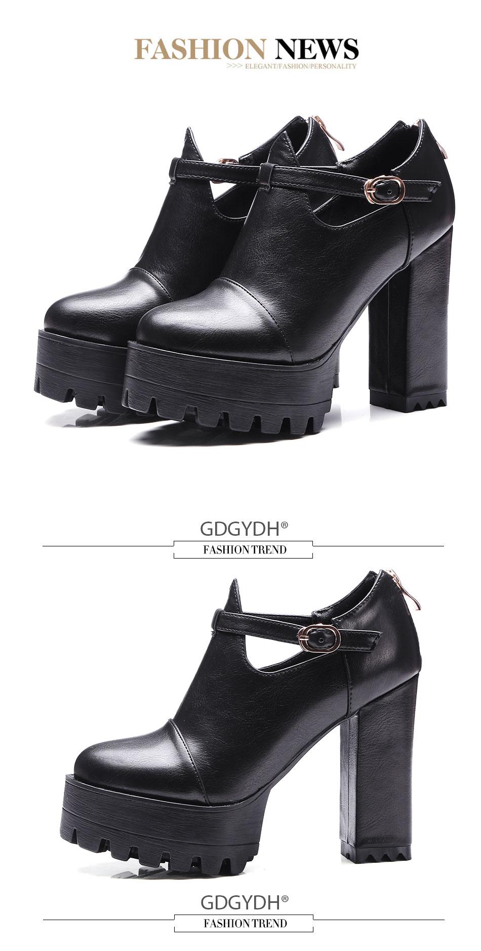 Gdgydh Новинка 2019 г. весенне-осенняя повседневная обувь на высоком каблуке 71219eb8e5001