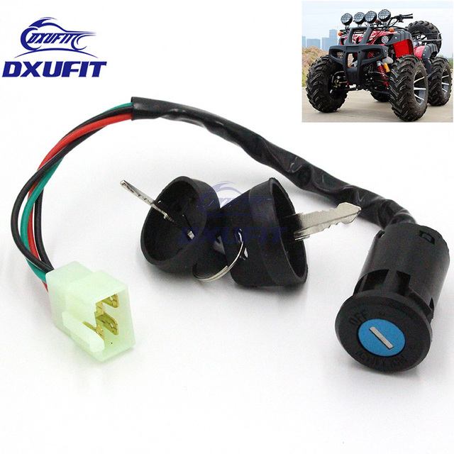 Miraculous Dxufit Universal Ignition Key Switch Lock Electric 4 Wires 2 Key Wiring 101 Olytiaxxcnl