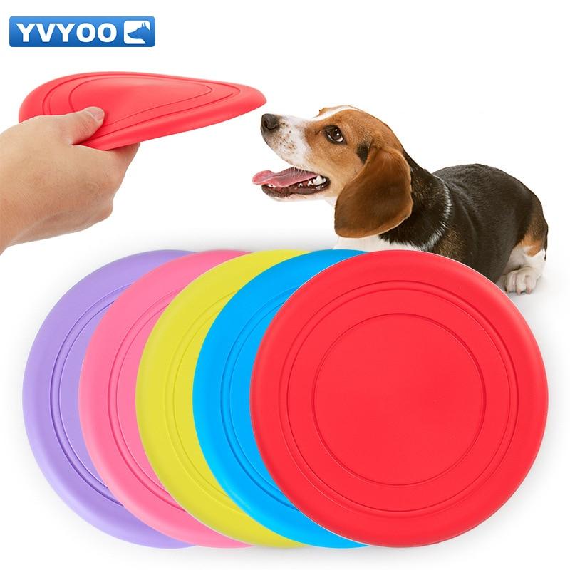 YVYOO 애완 동물 교육 용품 고무 18cm 플라잉 디스크 무독성 건강 개 개용 장난감 1 개