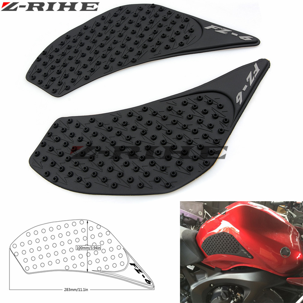 New Motorcycle Tank Pad Protector Sticker Decal Gas Fuel Knee Grip Traction Side For Yamaha Fz-6n 2006-2010 Automobiles & Motorcycles Covers & Ornamental Mouldings