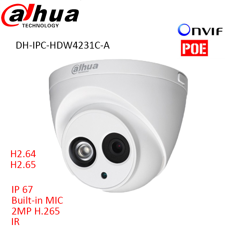 Newest Dahua H 265 2MP IP font b Camera b font DH IPC HDW4231C A Full
