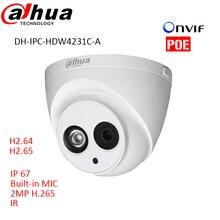 Lo nuevo DH-IPC-HDW4231C-A H.265 IP 2mp Dahua Full HD 1920*1080 Red cámara de INFRARROJOS Apoyo POE y Onvif construido en el mic H 265