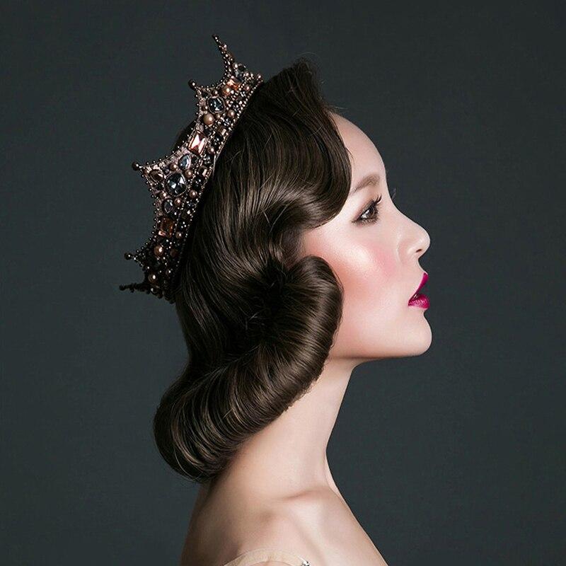 Idealway Barock Luxury Pearl Bridal Crown Bröllopsfest Prom Vintage - Märkessmycken - Foto 3