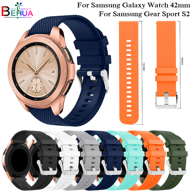 Smart Accessories 20mm Wrist Band For Samsung Gear sport S2 S4 Silicone Replacement Strap For Samsung Galaxy Watch 42mm Bands аксессуар ремешок samsung galaxy watch 42mm silicone silver et ysu81msegru