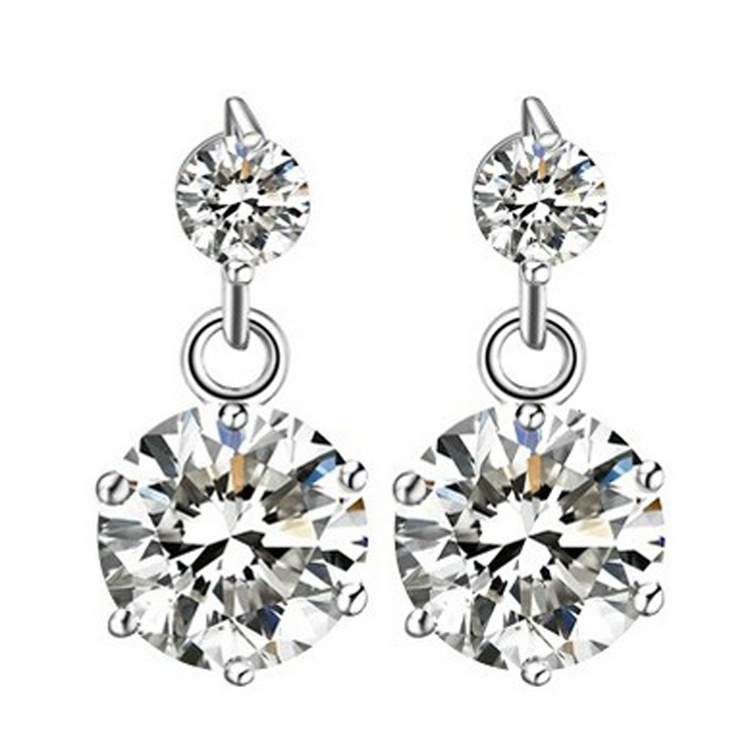 High Quality Star Shaped Woman Earrings Silver color Korean Style Charming Jewelery Accessories
