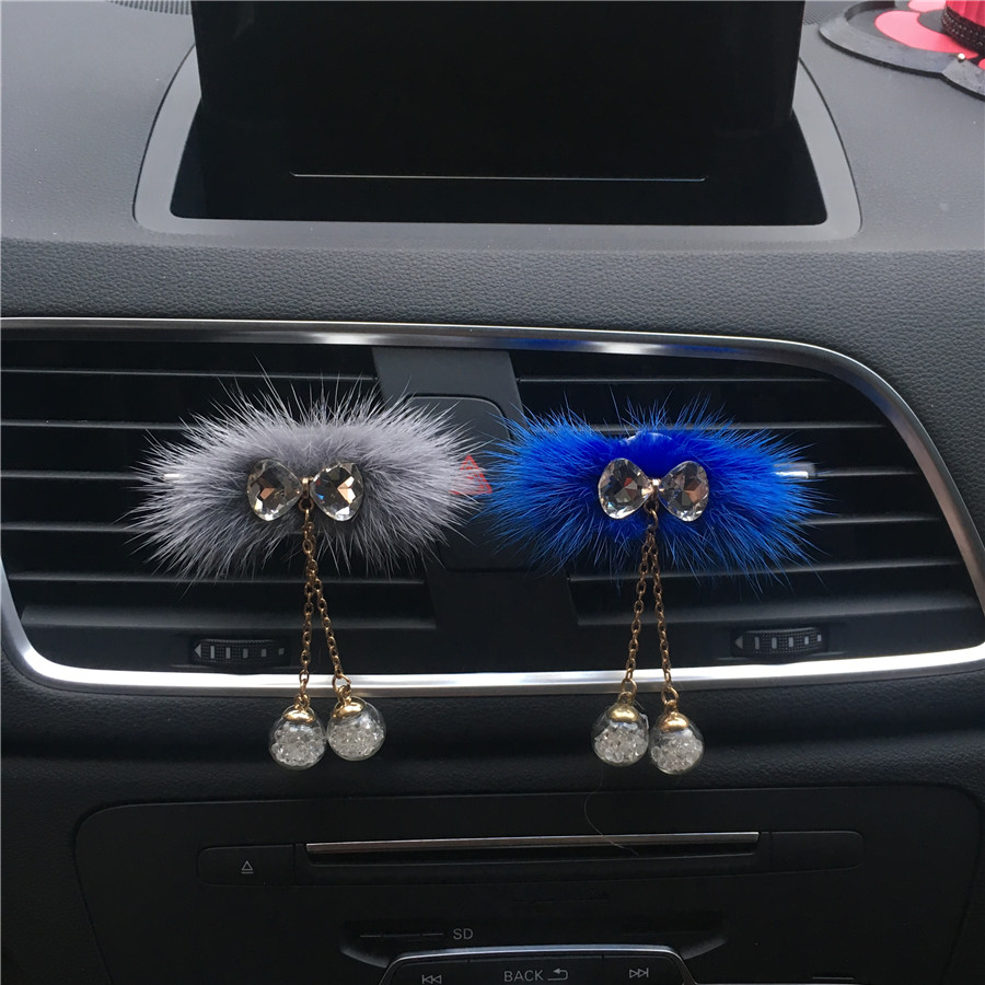 Soft plush Bow tie pendant modeling Lovely car perfume Lady bow lady car air freshener accessories Perfumes 100 Originais in Air Freshener from Automobiles Motorcycles