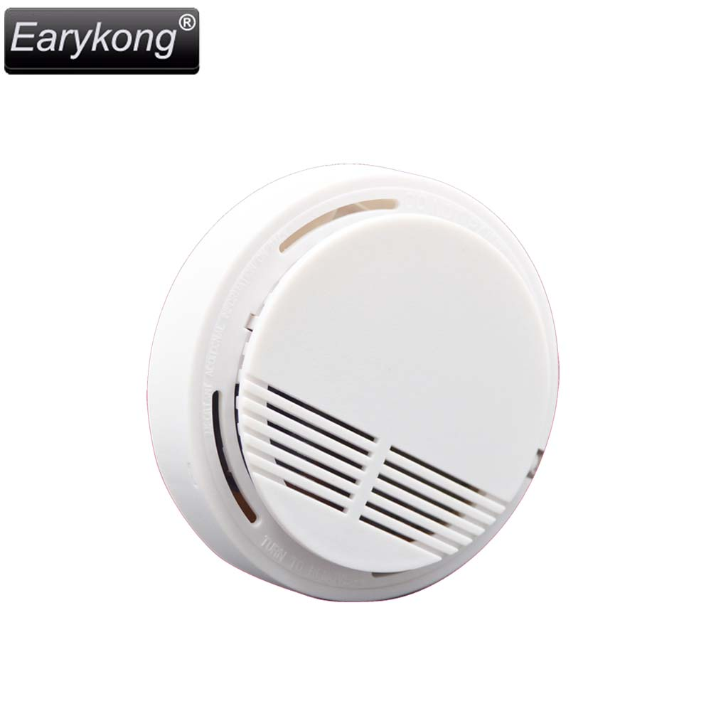 New Earykong Wireless Smoke Detector Fire font b Alarm b font 433MHz For Home Burglar GSM