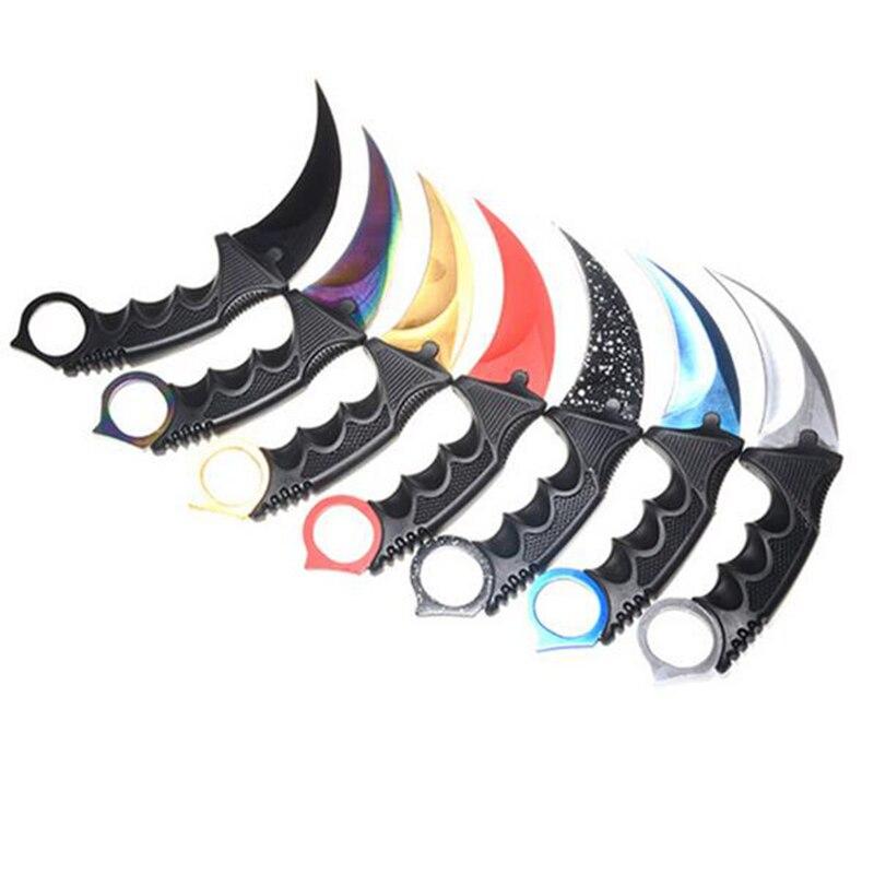 ¡Caliente! Cuchillo Karambit de caza hecho a mano CS GO Never Fade contraataque lucha supervivencia cuchillo táctico garra Camping cuchillos herramientas