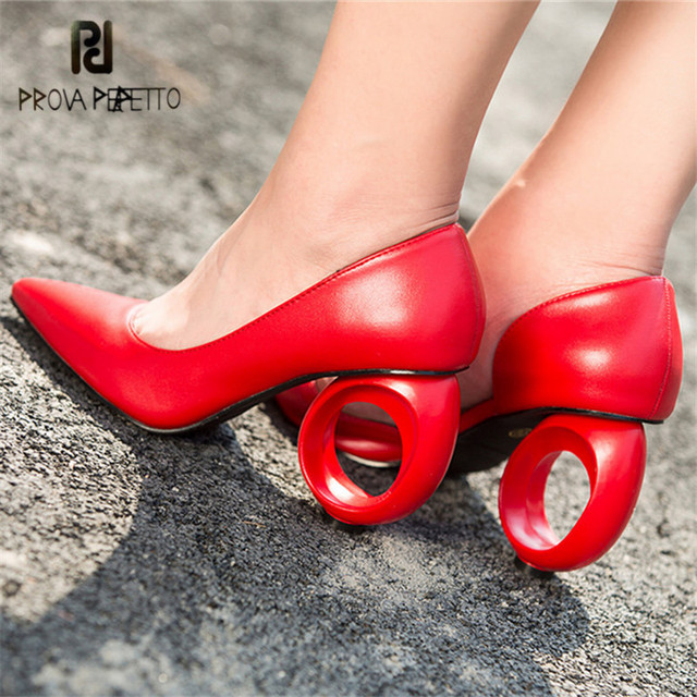 Prova Perfetto Sexy Red Women Pumps Pointed Toe Wedding Dress Shoes Woman  High Heels Stiletto Valentine Shoes Zapatos Mujer a76c646df242