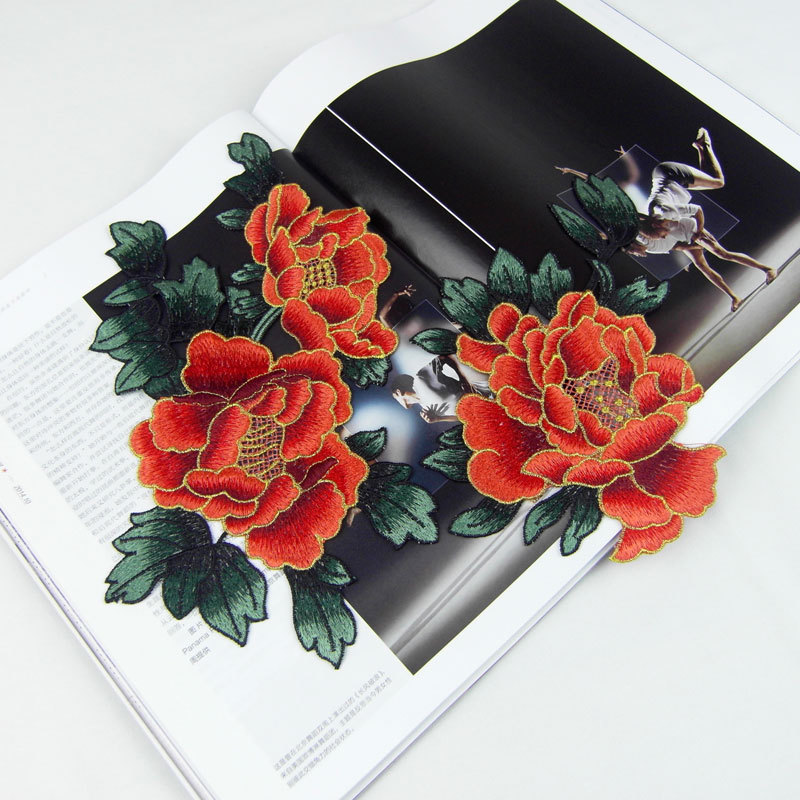 Yüksek Kaliteli Nakış çiçek yamalar bez yapıştırın güzel - Sanat, el sanatları ve dikiş - Fotoğraf 1