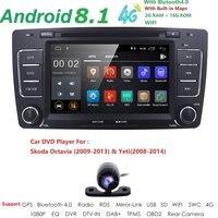 2 Din автомобильный DVD gps для Skoda Octavia 2012 2013 5 A5 Yeti, Fabia автомобиль Android 8,1 4 ядра 2 Гб Оперативная память стерео радио навигации Камера