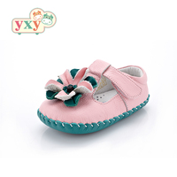 YXY Brand 2019 summer genuine leather Comfortable Flowers baby first walkers girls toddler hand made Newborn shoes Y A513