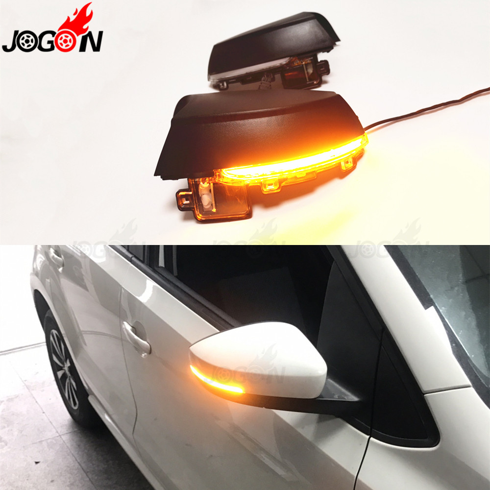 For VW Volkswagen Polo MK5 Facelift 6C 14-17 6R 2009-2013 LED Side Wing Rearview Mirror Dynamic Turn Signal Indicator Blinker