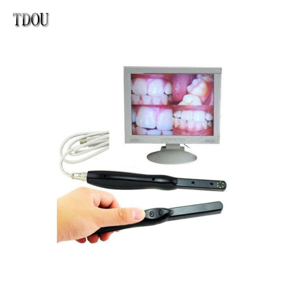 TDOUBEAUTY HD USB 2.0 Intra Oral Camera 6 Mega Pixels 6-LED Clear Image lab &clinic Free Shipping