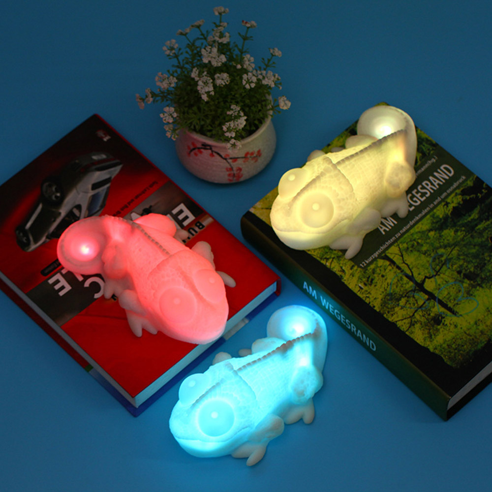 цена на LED Night Light Sensor Color Changing Chameleon Lamp Portable Home Decoration Novelty USB Night Lamps For Children Toy Gifts