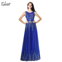 Elegant Mother Of The Bridesmaid Dresses 2017 A Line Scoop Tank Appliques Sequined Beaded Long Evening