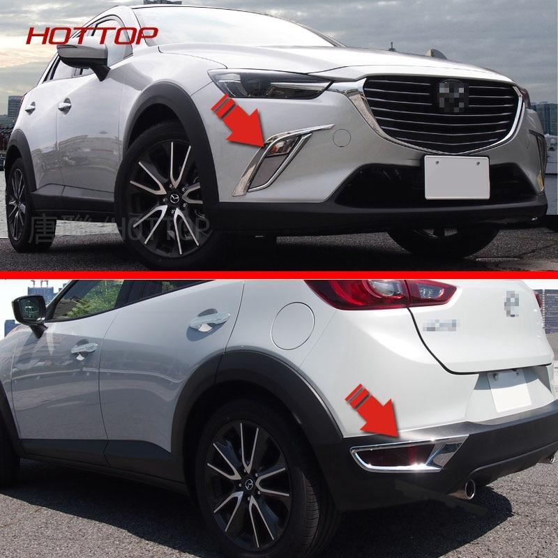 Front Rear Fog font b Light b font Cover For Mazda CX 3 2016 2017 Rear