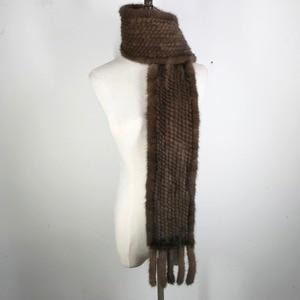 Image 3 - ผู้หญิงขนสัตว์ Mink จริงผ้าพันคอ 100% Real Mink FUR Muffler คุณภาพดีขายส่งและขายปลีก 2020 Real Mink FUR ถักผ้าพันคอ
