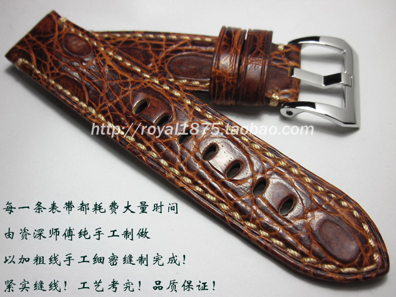 Handmade luxury straps American crocodile leather strap 22mm leather watchbands custom, free shippingHandmade luxury straps American crocodile leather strap 22mm leather watchbands custom, free shipping